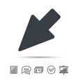 cursor icon computer position marker sign vector image