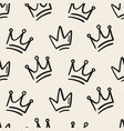 cute baby seamless pattern with crowns vector image