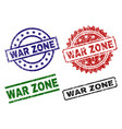 damaged textured war zone stamp seals vector image vector image