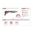 Details of gun shotgun Game perks vector image vector image
