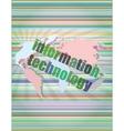 digital information technology concept background vector image vector image