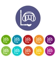 Diving mask set icons vector image vector image