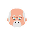 doctor sad emotion avatar physician sorrowful vector image