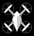 drone white on black background vector image vector image