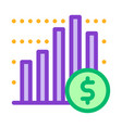 financial graph chart and coin dollar icon vector image