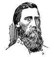 general john b hood vintage vector image vector image