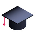 graduated hat icon isometric style vector image