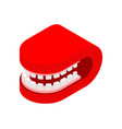grin mouth closed isometric style isolated vector image vector image