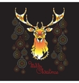 Hand drawn cute Christmas deer Xmas symbols vector image