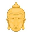 Head of Buddha icon cartoon style vector image vector image