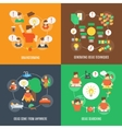Ideas Icons Flat vector image