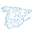 isolated map of spain vector image vector image