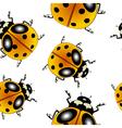 ladybugs pattern vector image vector image