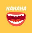 laughing mouth april fools day loud laugh and vector image