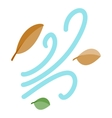 Leaves spinning in the wind icon vector image