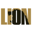 Lion sign vector image vector image