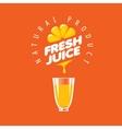 logo of fresh juice vector image