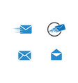 mail logo vector image