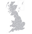 map counties great britain vector image