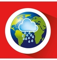 map with icon rain cloud weather graphic vector image vector image
