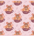 mice seamless pattern vector image vector image