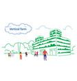 mix race people walking outdoor plants smart vector image vector image