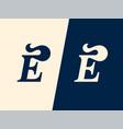 modern professional logo monogram e hairstyle vector image