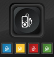 MP3 player headphones music icon symbol Set of vector image
