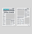 newspaper template column articles on newsprint vector image vector image