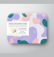 nuts bath cosmetics box wrapped paper vector image vector image