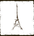 old image of the tourist tower vector image vector image