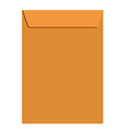 Orange closed envelope vector image vector image
