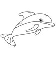 outline dolphin tropical wild sea animal vector image