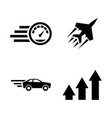 performance speed simple related icons vector image vector image