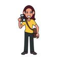 photographer avatar cartoon vector image