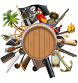 pirate concept with barrel vector image vector image