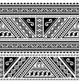 polynesian tribal geometric seamless pattern vector image vector image