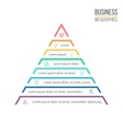 Pyramid triangle with 8 steps levels vector image vector image