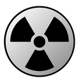 Radiation sign button vector image vector image