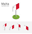 republic of malta flag set of 3d isometric icons vector image vector image