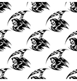 Seamless pattern of black death with scythe vector image vector image