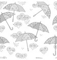 seamless pattern with umbrella in entangle vector image