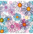Seamless spring grunge spotty floral pattern vector image vector image