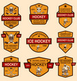 set hockey club emblems design element vector image