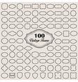 Set of 100 blank vintage frame badges and labels vector image vector image