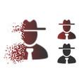 shredded pixelated halftone gentleman icon vector image vector image