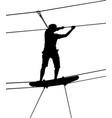 silhouette adventure vector image
