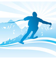 ski and sport background vector image