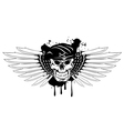 skull in beret and daggers vector image vector image