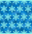 snowflake seamless pattern blue snow background vector image